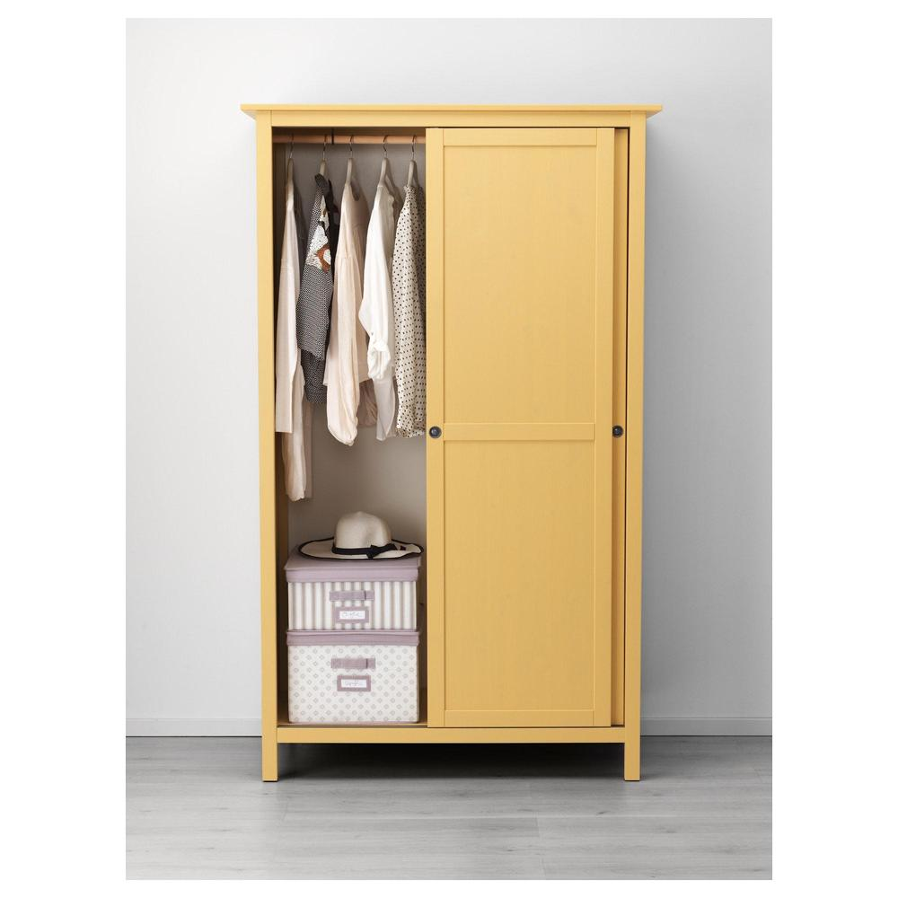 Hemnes Wardrobe With 2 Sliding Doors Yellow 403 697 84 - Ikea Wardrobe Ksa