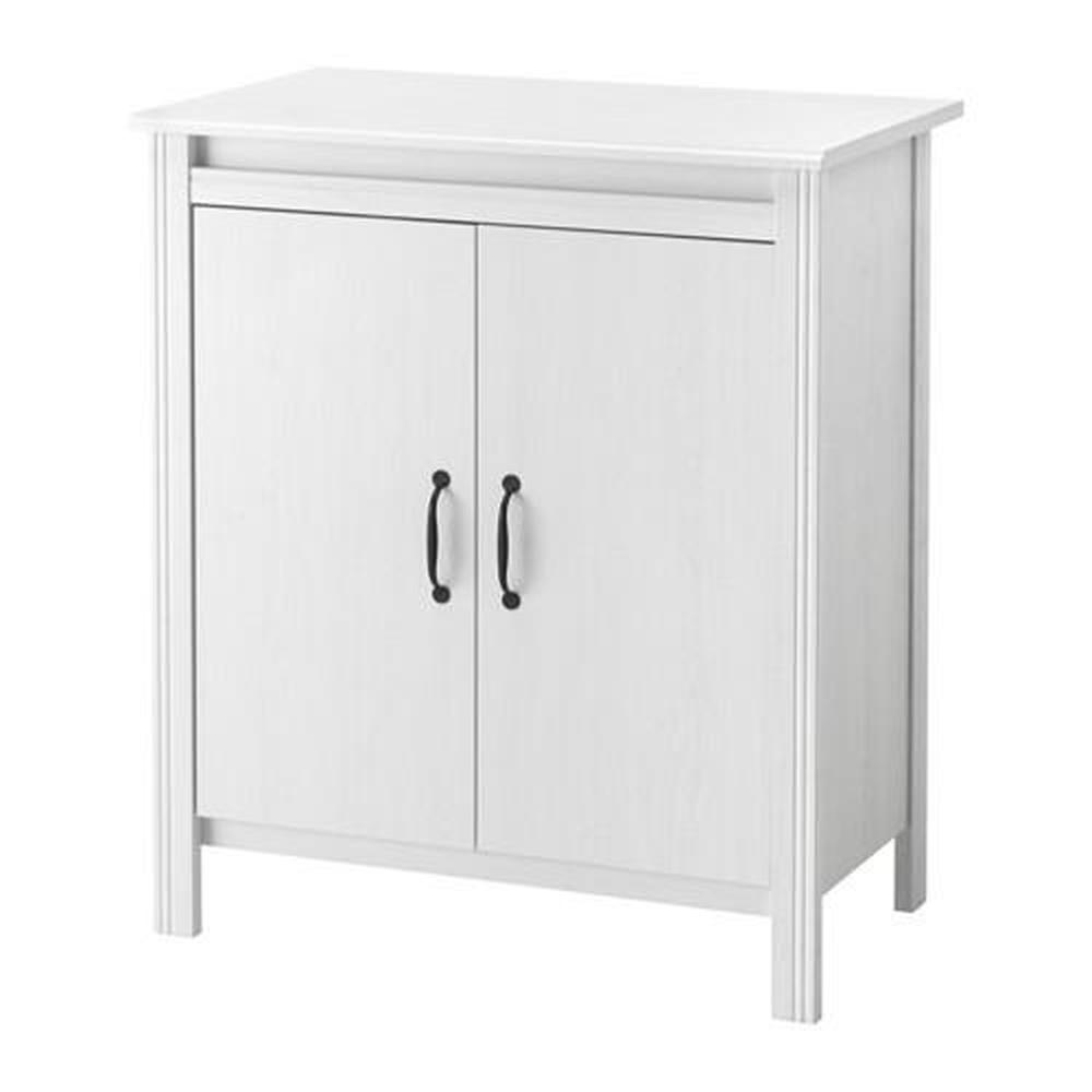 Brusali Wardrobe Brusali Wardrobe With Doors White