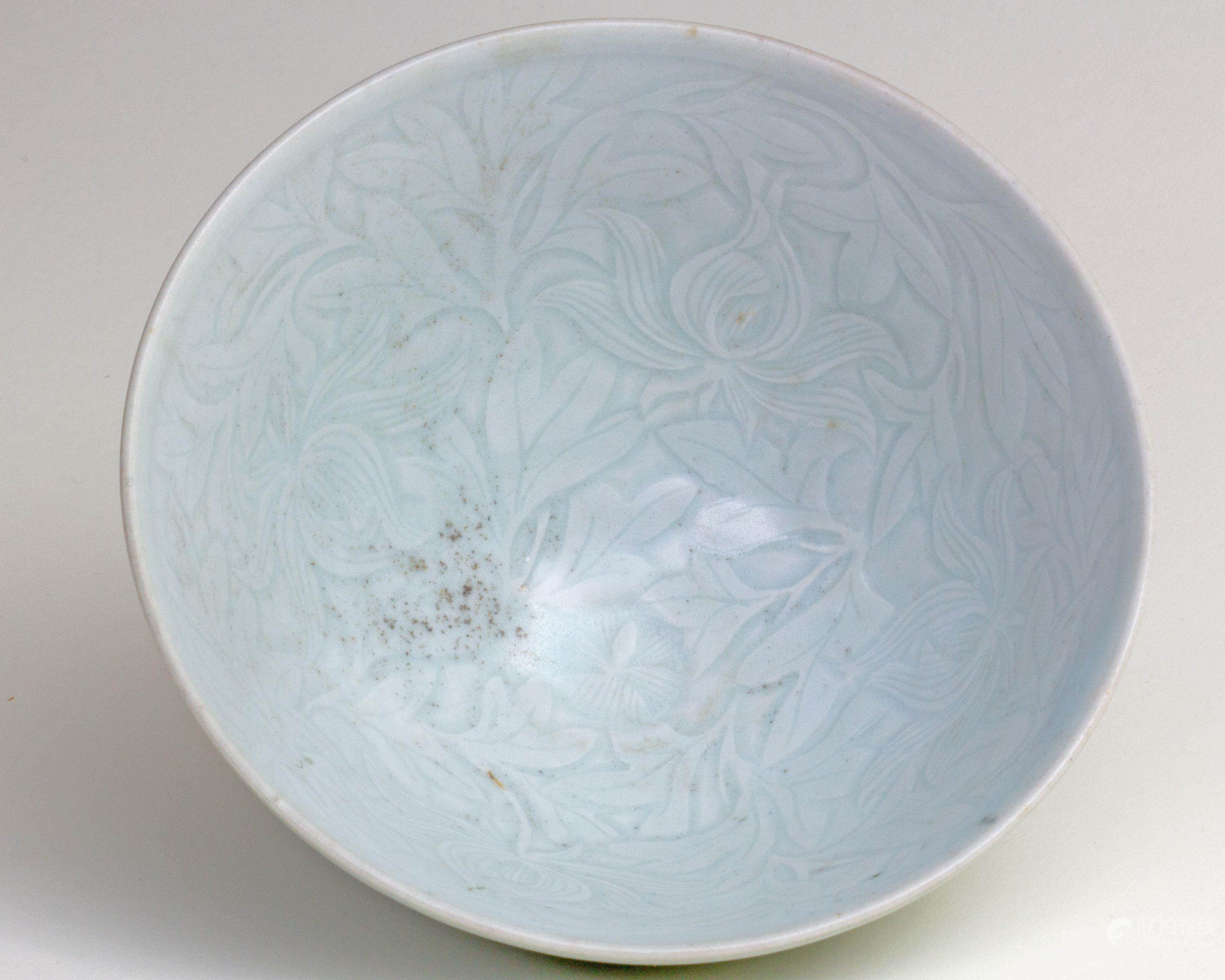 Qing Bai 51bidlive Qing Bai Glazed Bowl With Flower Pattern Engraved