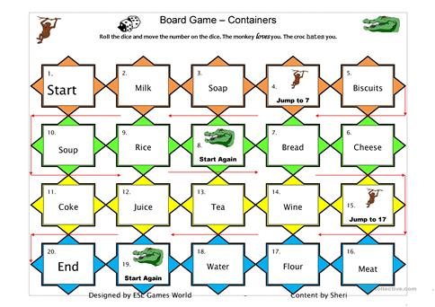 Boardgame count/uncount worksheet - Free ESL printable worksheets - count and noncount nouns esl