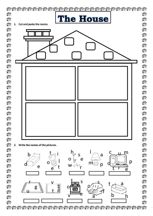 My House Worksheet Free Esl Printable Worksheets Made By