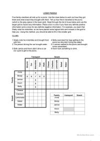 Logic Puzzle worksheet - Free ESL printable worksheets ...