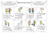 Subject and Object Pronouns worksheet