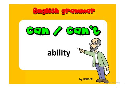 Can/can\u0027t PPT worksheet - Free ESL projectable worksheets made by - esl powerpoint lesson