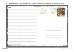 Debonair Postcard Writing Full Screen Postcard Writing Worksheet Free Esl Printable Worksheets Made By How To Write A Postcard Japan How To Write A Postcard Spanish
