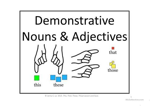 This That These Those PowerPoint worksheet - Free ESL projectable - esl powerpoint lesson