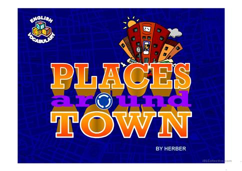 PLACES AROUND TOWN PPT worksheet - Free ESL projectable worksheets - esl powerpoint lesson