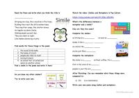 simile and metaphor worksheets - DriverLayer Search Engine