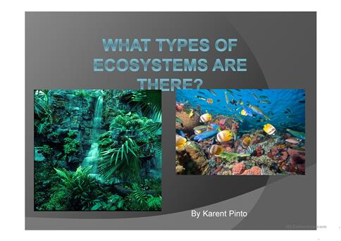 Types of Ecosystems worksheet - Free ESL projectable worksheets made