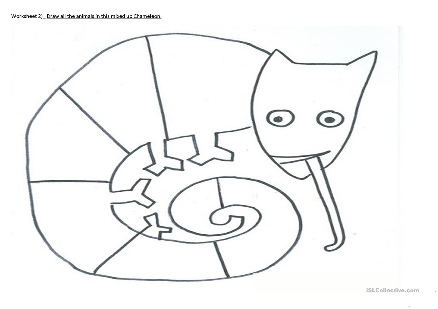 The Mixed Up Chameleon Coloring Page - Eskayalitim