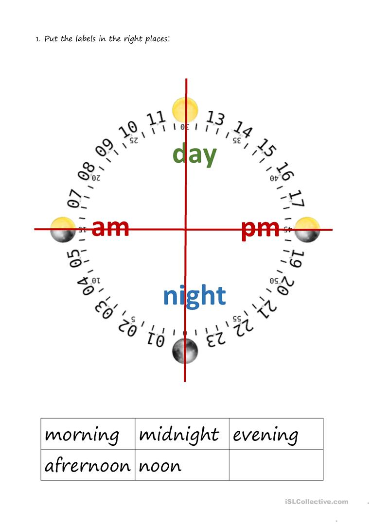 Am Pm Am Pm Clock Worksheet Free Esl Printable Worksheets Made By Teachers