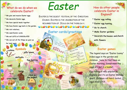 Easter poster worksheet - Free ESL printable worksheets made by teachers