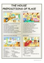 ESL Prepositions Of Place Worksheets