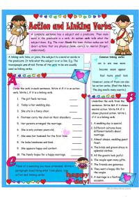 All Worksheets  Linking Verbs Worksheets - Printable ...