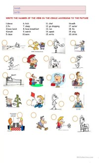 All Worksheets  Action Verbs Worksheets - Printable ...