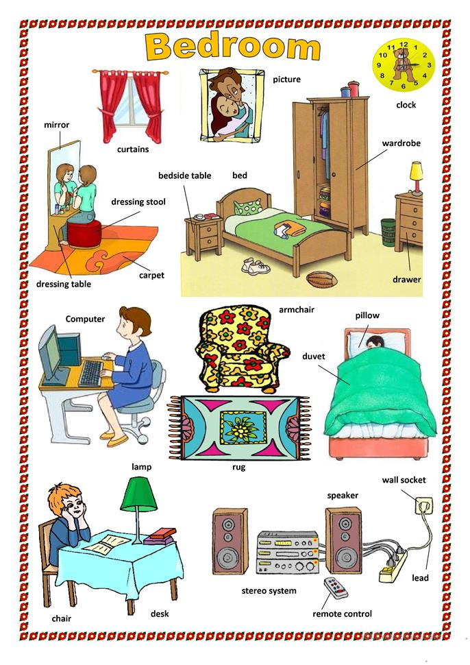 Furniture In The House Worksheet Free Esl Printable