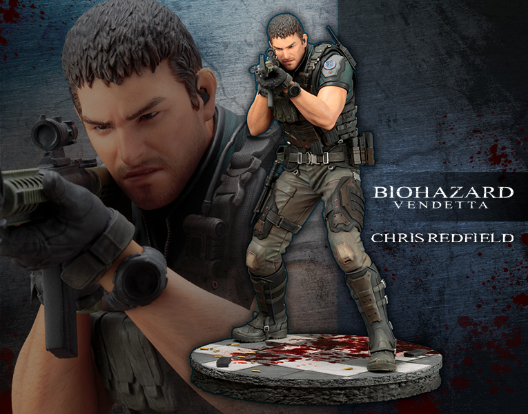 3d Japanese Wallpaper Resident Evil Vendetta Chris Redfield Artfx Statue