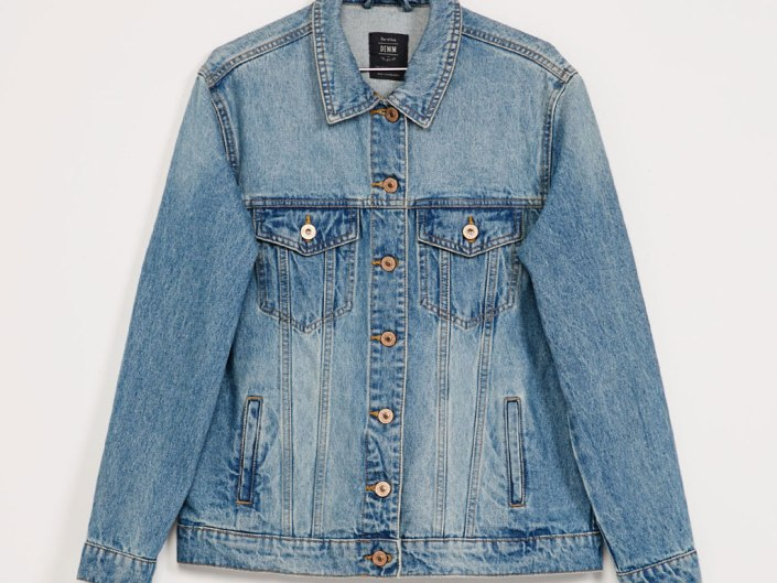 Denim oversize jacket Bershka