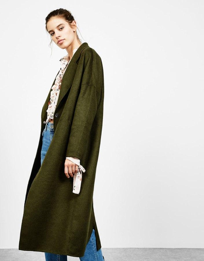 Wooly coat Bershka