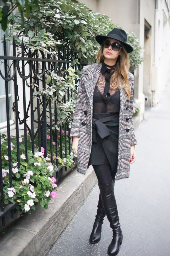 What a British look, for a Parisian winter !