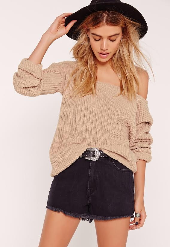 Camel naked shoulder pull MissGuided