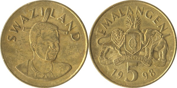 5 Emalangeni Mswati Iii Swaziland Numista