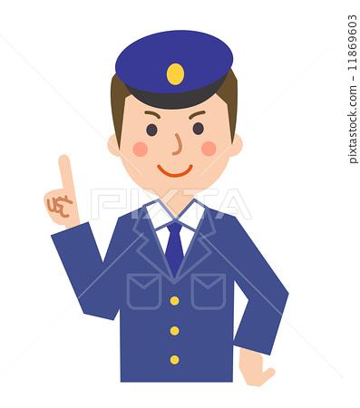 Security guard supervisor - Stock Illustration 11869603 - PIXTA