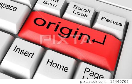 origin word on white keyboard - Stock Illustration 14449705 - PIXTA