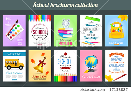 Set of back to school and education typographical card templates
