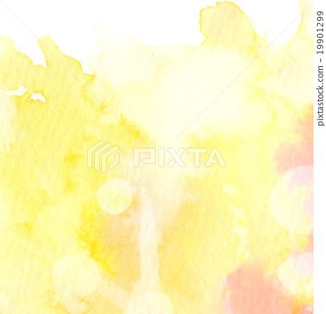 Yellow pink watercolor texture, background image - Stock
