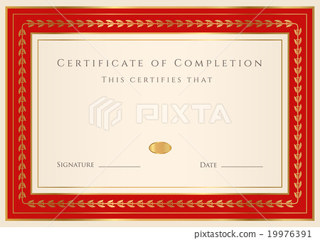 Diploma, Certificate of completion design template - Stock