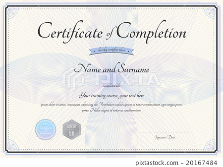 Certificate of completion template in vector - Stock Illustration
