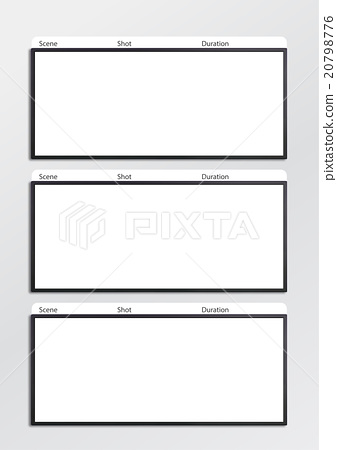 Film storyboard template vertical x3 - Stock Illustration 20798776