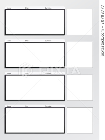 Film storyboard template vertical x4 - Stock Illustration - vertical storyboard