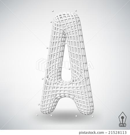 Vector illustration of letter A Fonts of Mesh - Stock Illustration
