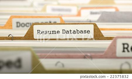 Resume Database Concept Folders in Catalog - Stock Illustration