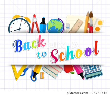 Welcome Back to school template - Stock Illustration 23762316 - PIXTA - welcome back template