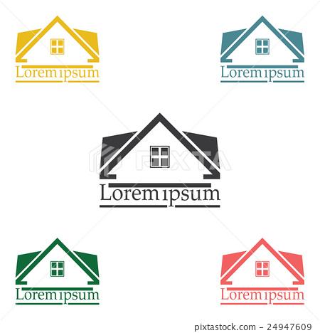 Real Estate vector logo design template color set - Stock