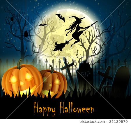 Halloween spooky background - Stock Illustration 25129670 - PIXTA