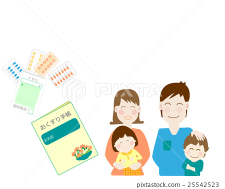 Medication notebook, medicine notebook, couple, family, child, young