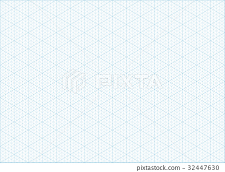 Isometric grid graph paper background - Stock Illustration 32447630