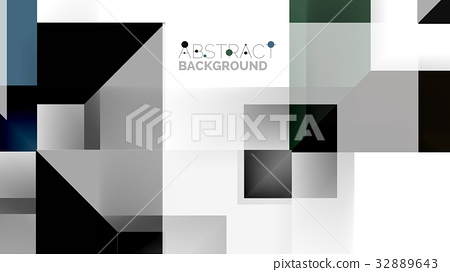 Business presentation geometric template - Stock Illustration