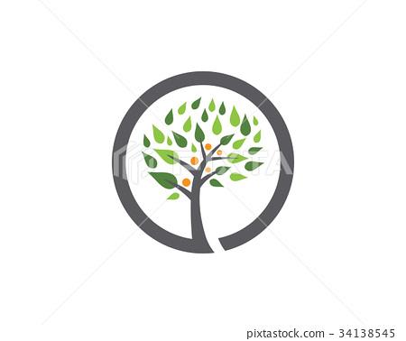 family tree logo design template - Stock Illustration 34138545 - PIXTA