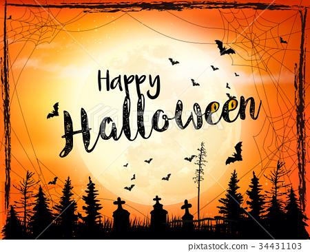 Halloween spooky background Vector - Stock Illustration 34431103