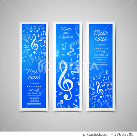 Musical staves vector illustration with music - Stock Illustration