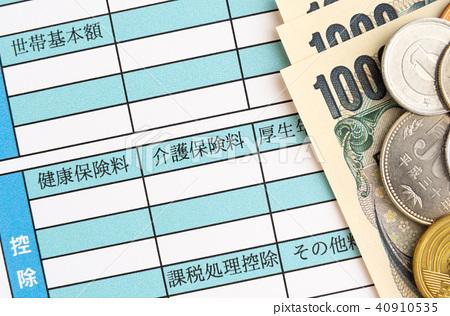 Salary statement Nursing care insurance fee Salary Monthly salary