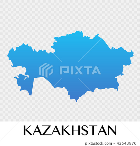 Kazakhstan map in Asia continent illustration - Stock Illustration