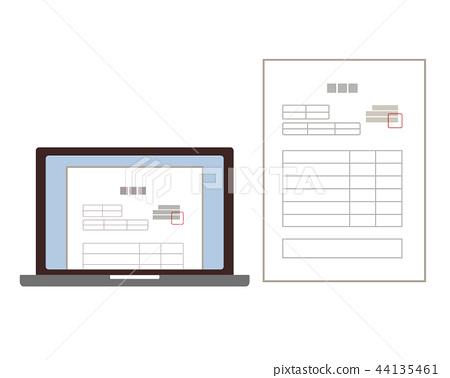 Laptop personal computer invoice invoice invoice - Stock
