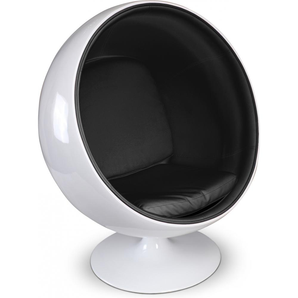 Ball Chair Buy Ball Chair - Eero Aarnio Style - Faux Leather Black 16499 In The Europe | Privatefloor