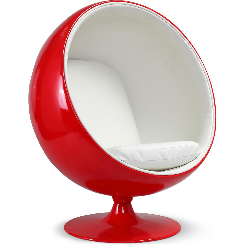 Ball Chair Buy Red Ball Chair Eero Aarnio White 19541 In The Europe | Privatefloor